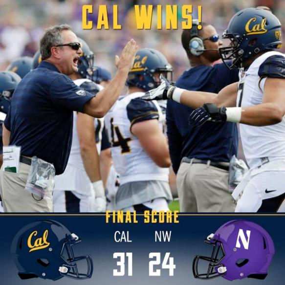 """I take it """"Cal Wins"""" doesn't happen very much."""