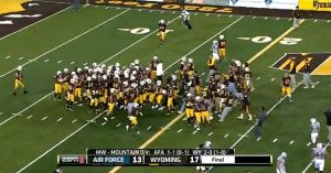 Just think about this moment when Oregon is up 56-14 Wyoming fans.