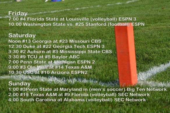 Oct 10-12 Game plan