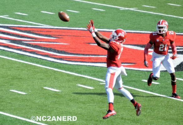 Ball State defenders loved the ample chances for interceptions in this game.